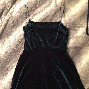 Emerald Velvet Mini Dress